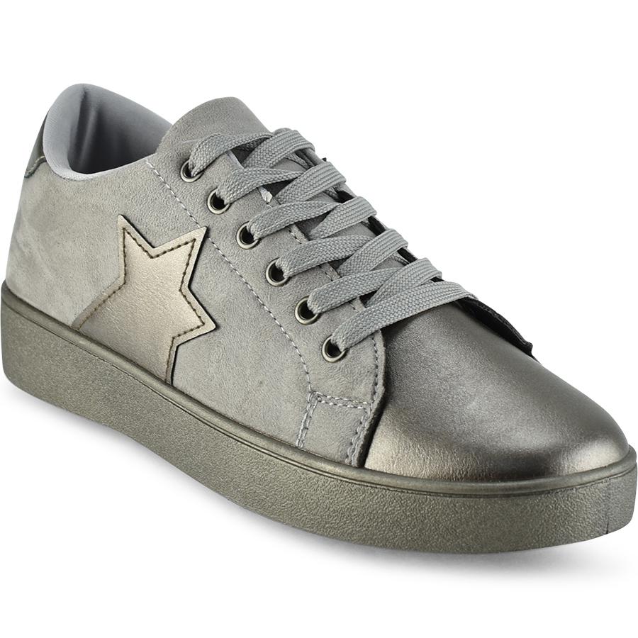 Γκρι sneakers με αστέρι ΗΑ010