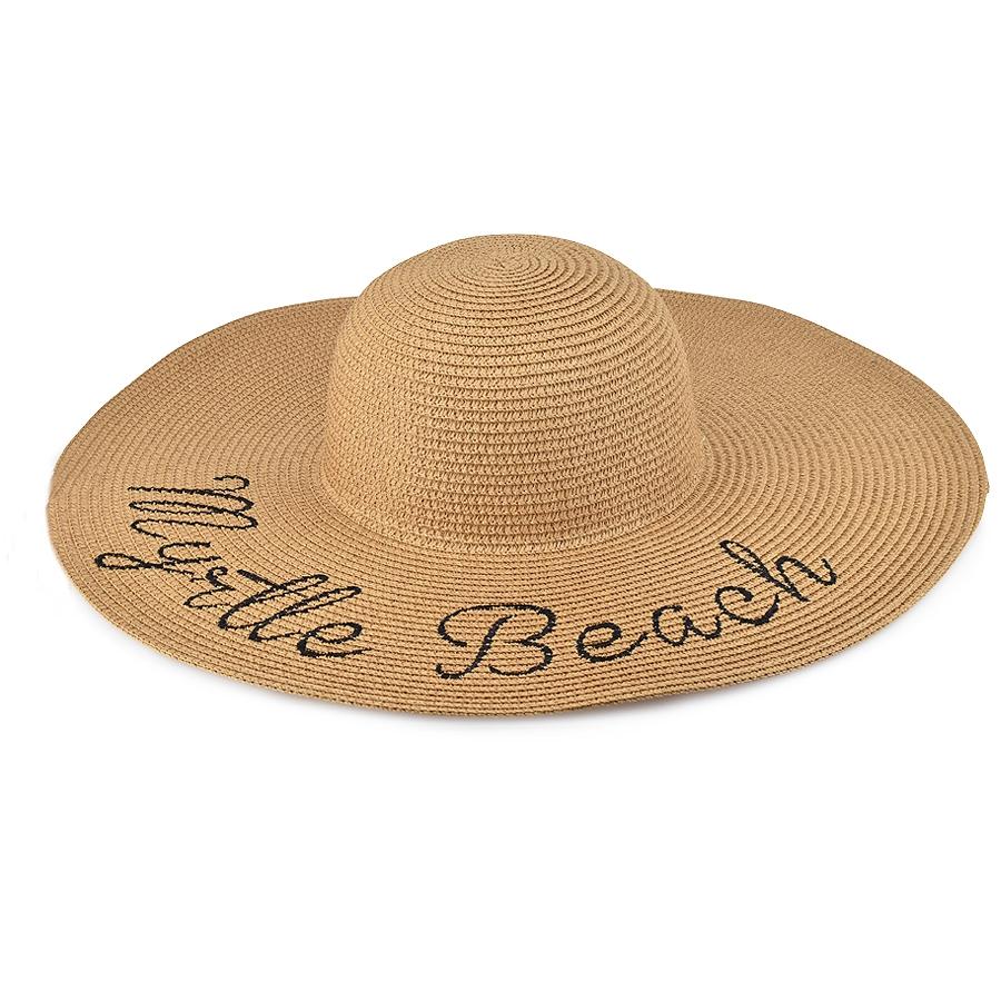 Καμελ γυναικείο ψάθινο καπέλο