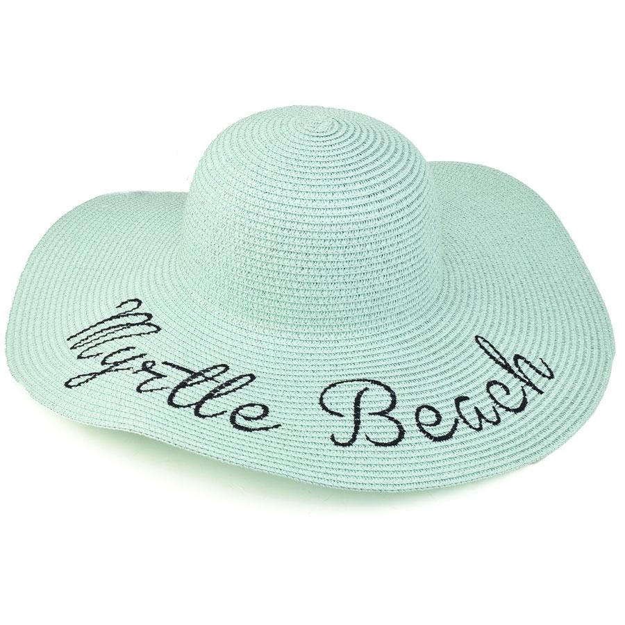 Πράσινο γυναικείο ψάθινο καπέλο