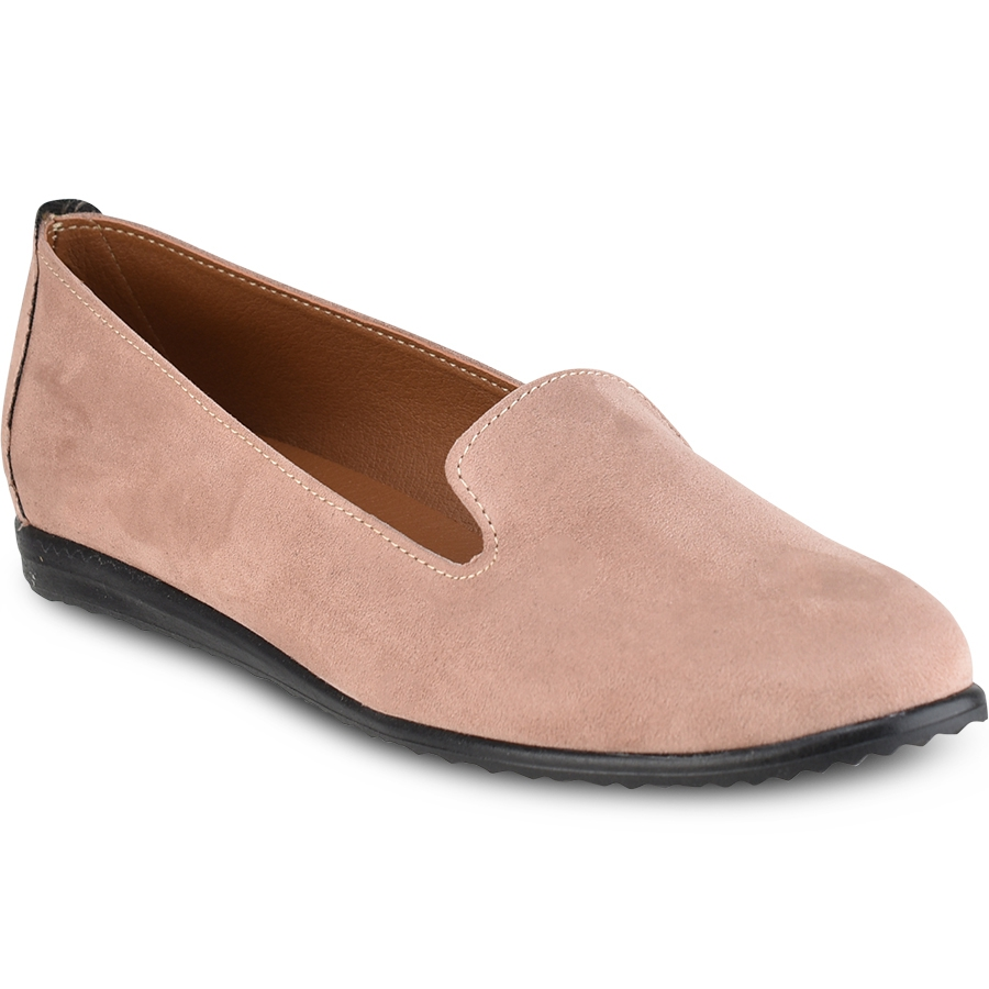 Nude σουέντ loafer IOANNIS ID110S