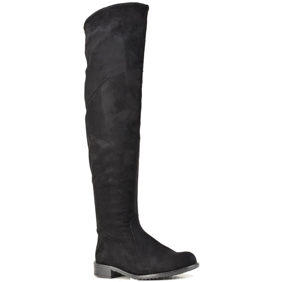 Μαύρη σουεντ φλατ μπότα IOANNIS ID800S
