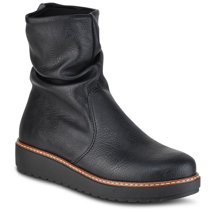 Μαύρα φλατ μποτάκια IOANNIS ID900D