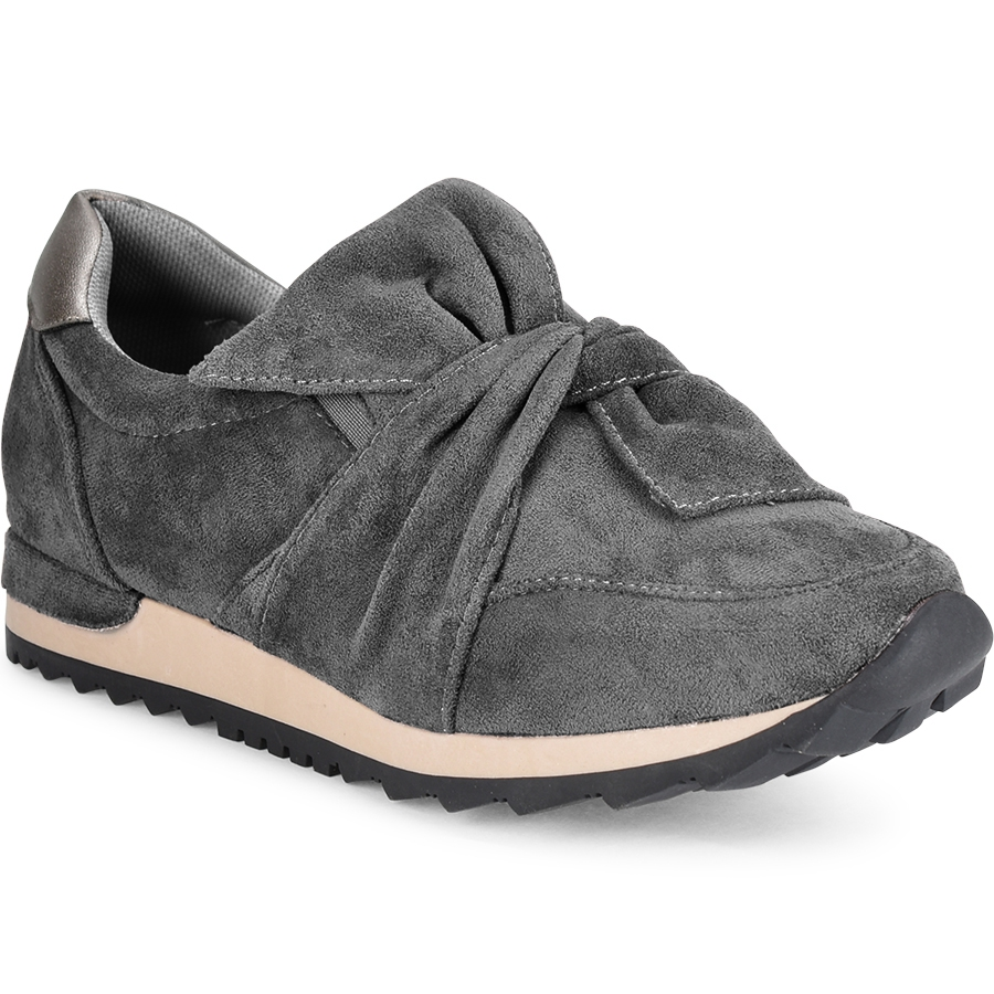 Γκρι σουεντ sneakers Lets Walk JN44-03