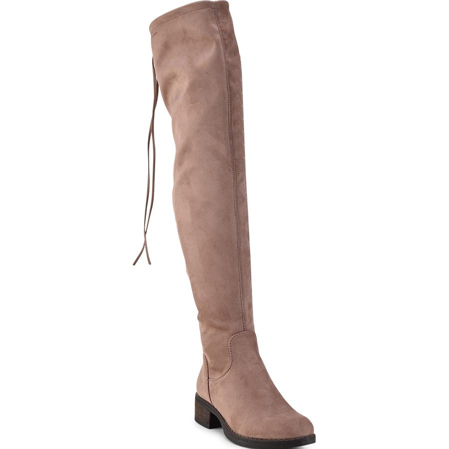 -50% Izyshoes Ροζ σουεντ μπότα πάνω απο το γόνατο Lets Walk JN77-06 f0ab1102c0f