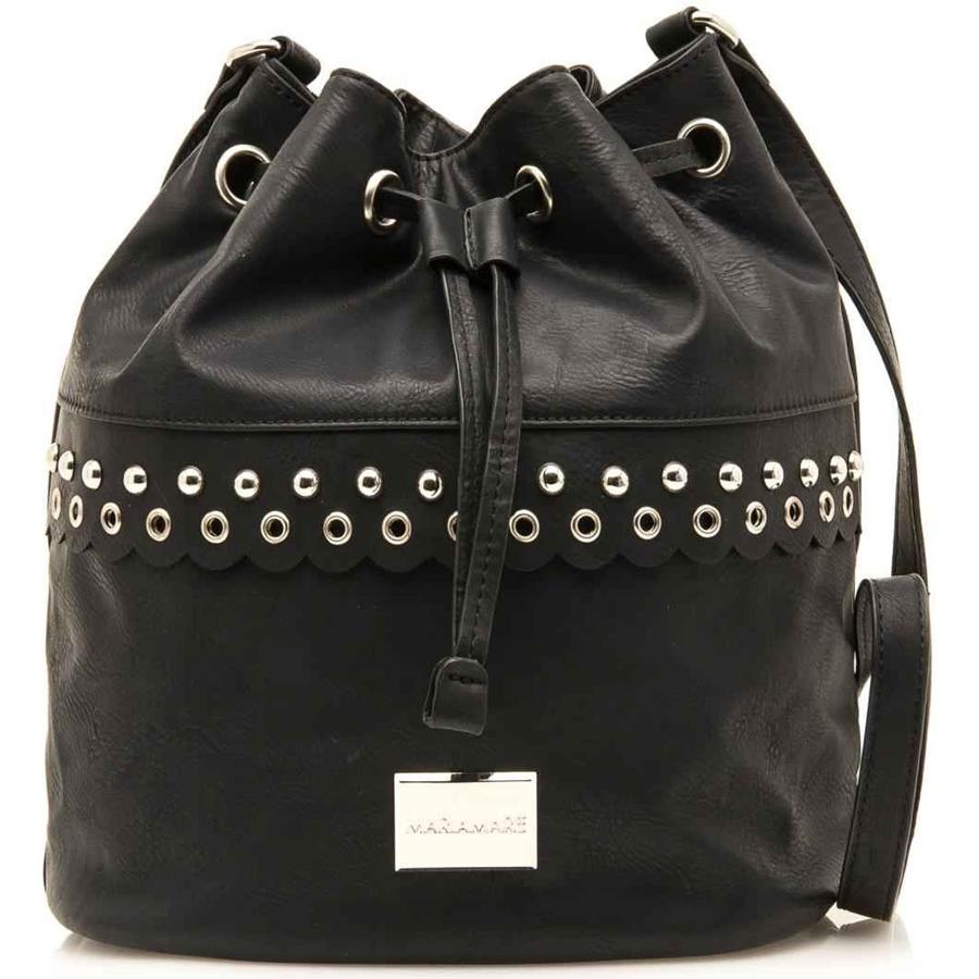 ffbe886466 Μαύρη τσάντα πουγκί MariaMare Laura