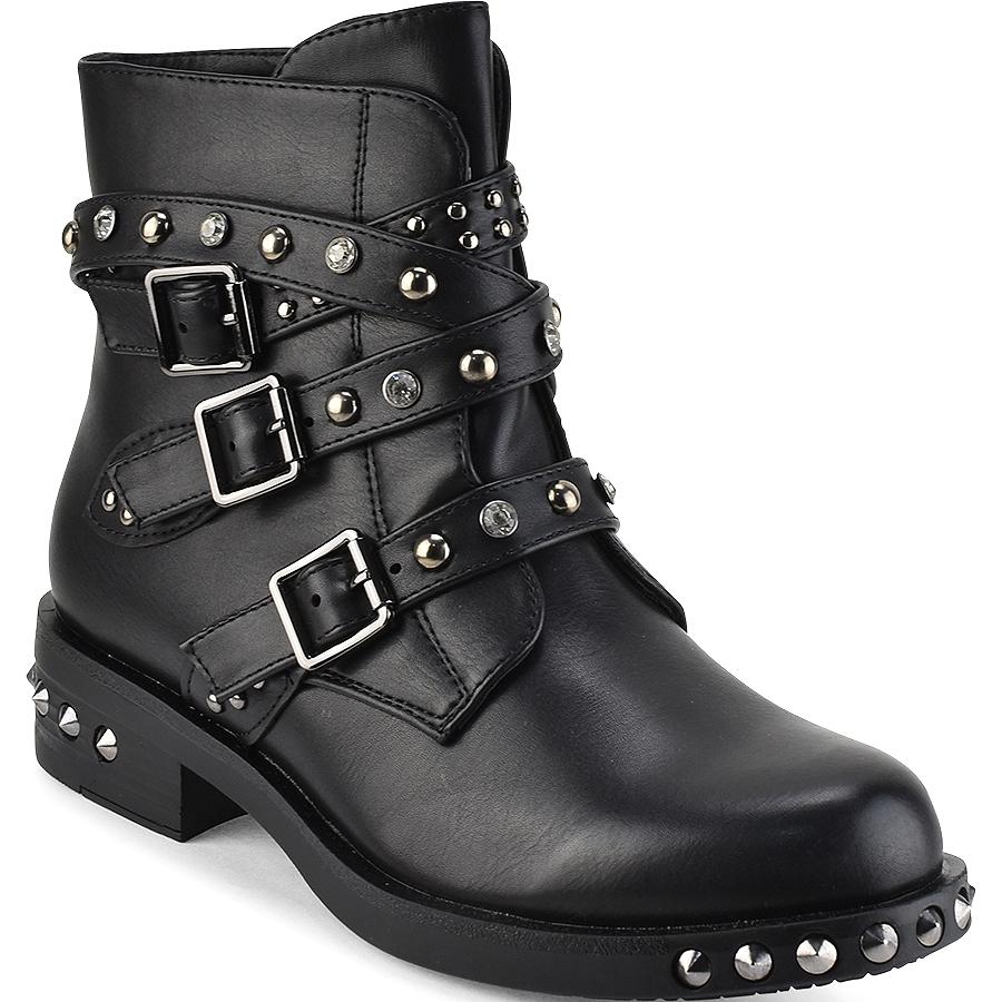 Μαύρα biker boots με τρουκς La Bottine Souriante LBS2957