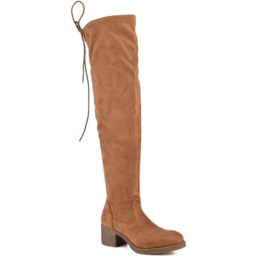 Καμελ μπότα με τακούνι MAH651