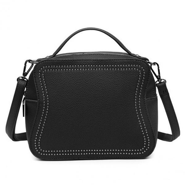 Μαύρη τσάντα χιαστη 7578