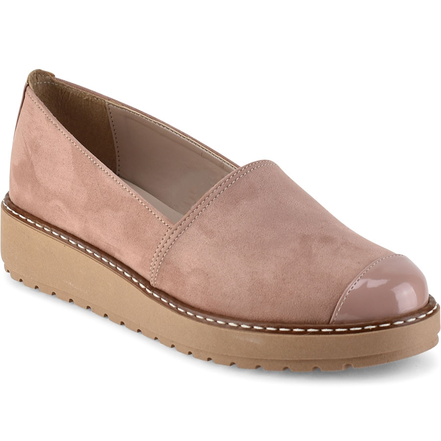 Nude σουέντ Slip on Beatrice R010S