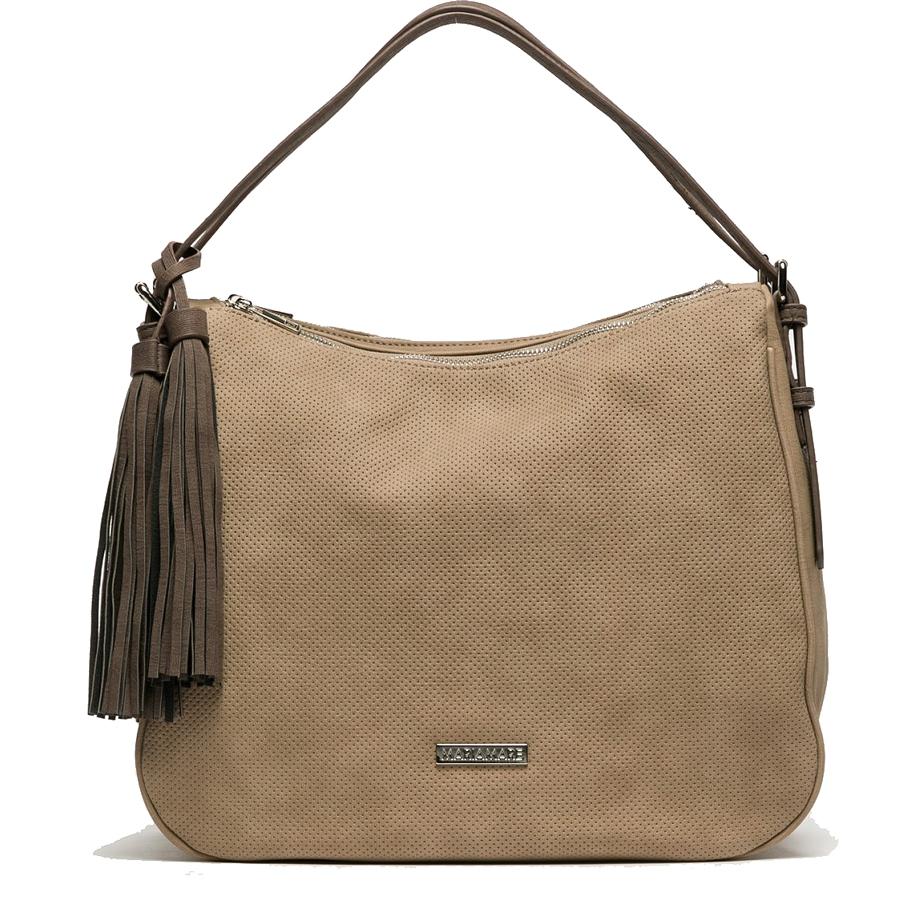 Τσάντα ώμου σε χρώμα πούρο MariaMare SEFI 02687bf888f