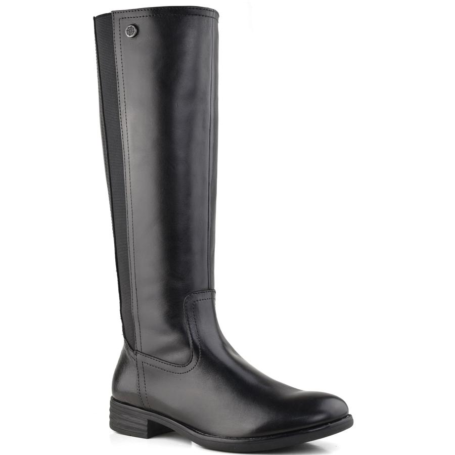 Δερμάτινη μαύρη μπότα Bussola TANDRA