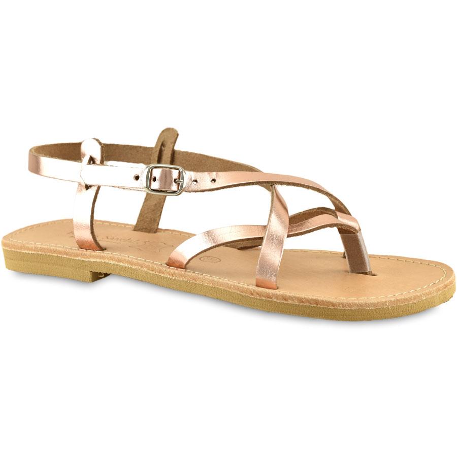 Δερμάτινο μπρονζε σανδάλι Tsakiris Sandals TS02