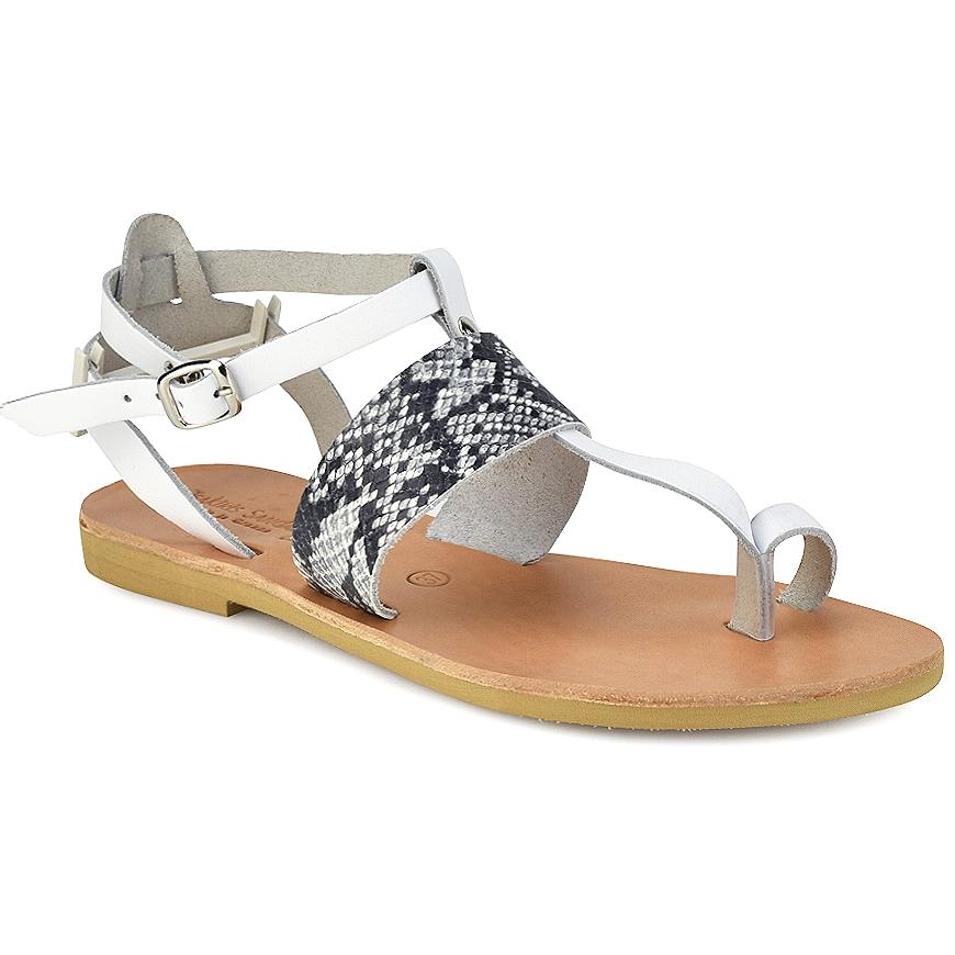 Δερμάτινο λευκό σανδάλι Tsakiris Sandals TS608