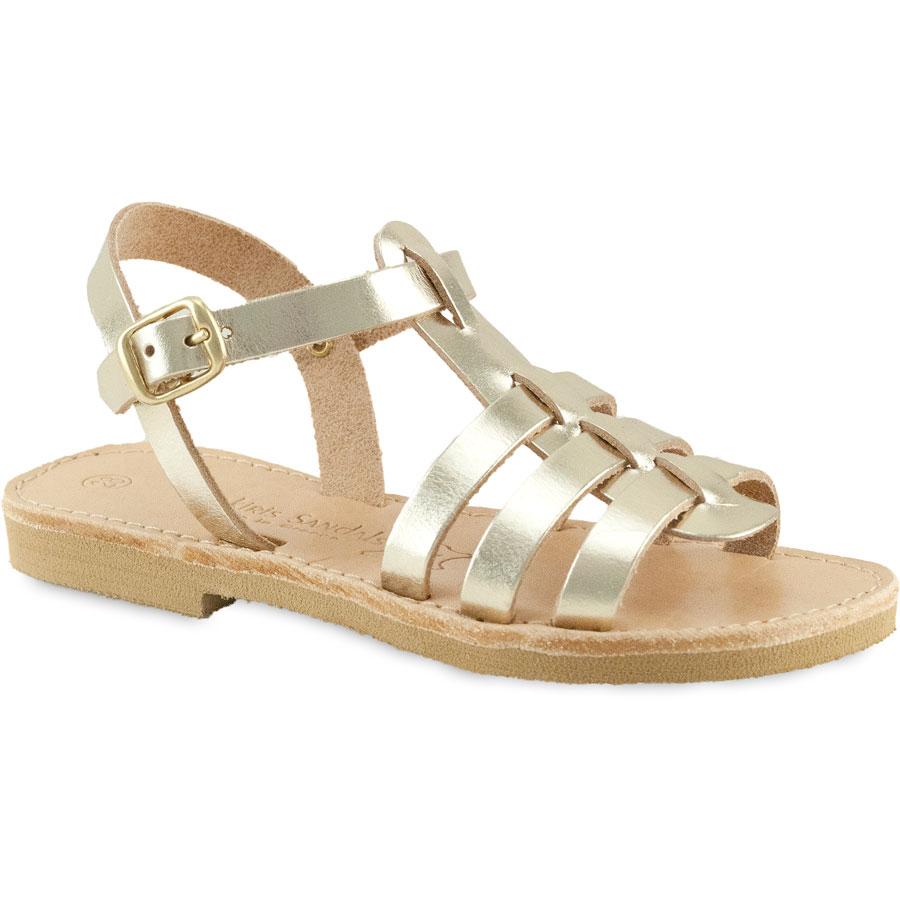 Δερμάτινο χρυσό παιδικό σανδάλι Tsakiris Sandals TSP151