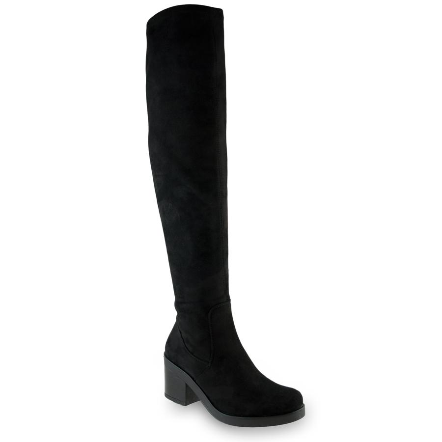 Μαύρη μπότα με τακούνι VB65162