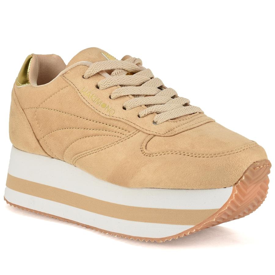 Μπεζ sneakers Hakimono YOK02