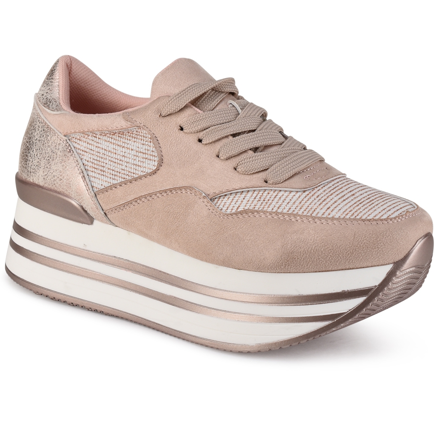 Nude sneakers ZX005A-1